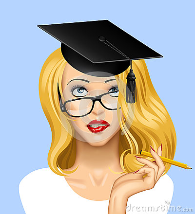 Free Face Of A Pretty Blonde Girl In Glasses Looking Up With A Gradua Royalty Free Stock Photography - 80443417