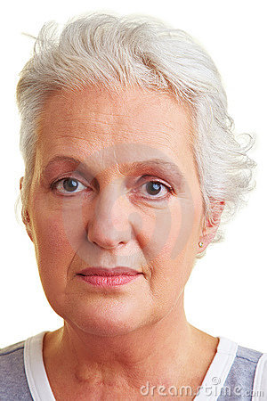 Free Face Of An Elderly Woman Royalty Free Stock Images - 12951859