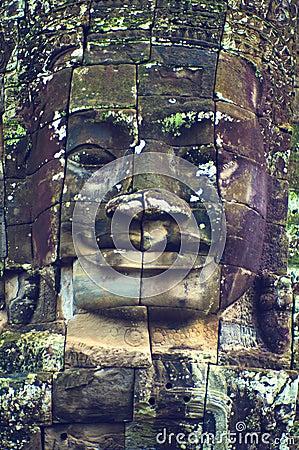 Free Face Of Angkor Wat (Bayon Temple) Royalty Free Stock Image - 8449296