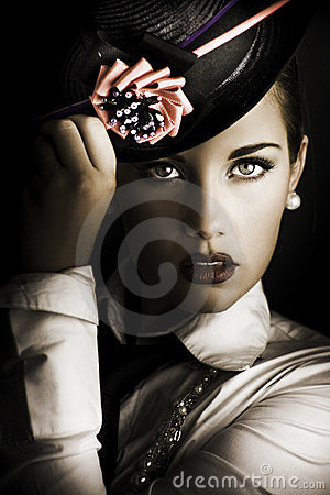 Free Face Of Dark Fashion Stock Photography - 24053492