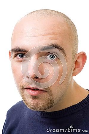 Free Face Of Mistrustful Bold Man Stock Photos - 11204513