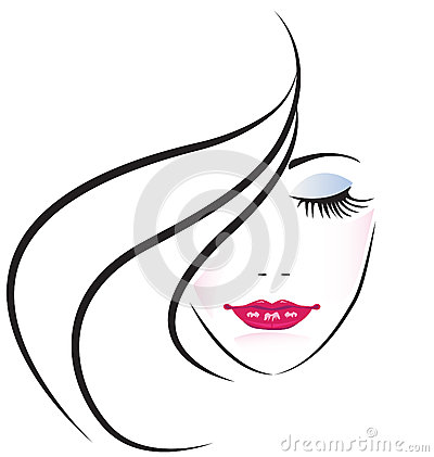 Free Face Of Pretty Woman Logo Vector Stock Photo - 27414770
