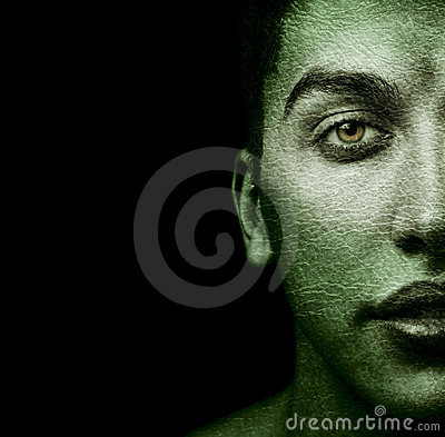 Free Face Of Strange Man With Textured Skin Stock Photo - 12991540