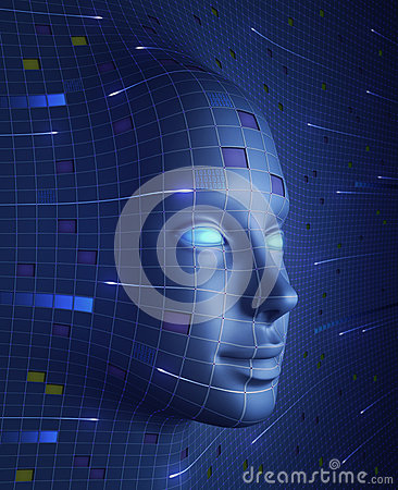 Free Face Of Technology Royalty Free Stock Photo - 25951545