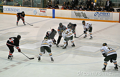 Face off in Ice Hockey Game Editorial Photography