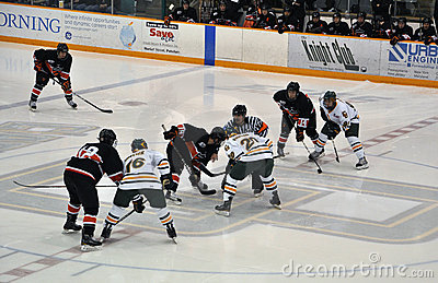 Face off in Ice Hockey Game Editorial Image