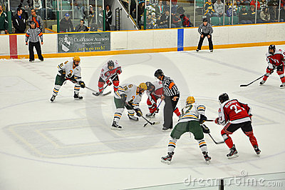 Face off in Ice Hockey Game Editorial Photo