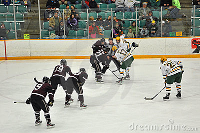 Face off in Ice Hockey Game Editorial Stock Image