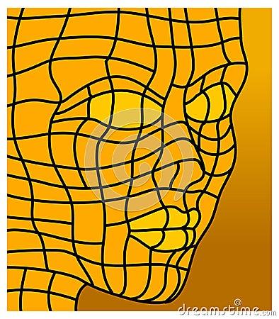 Face in orange