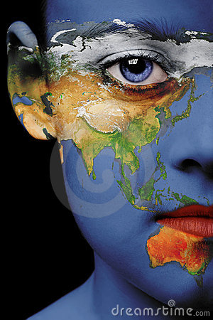 Face paint - asia