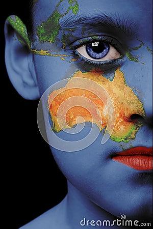 Free Face Paint - Australia Stock Image - 2842611