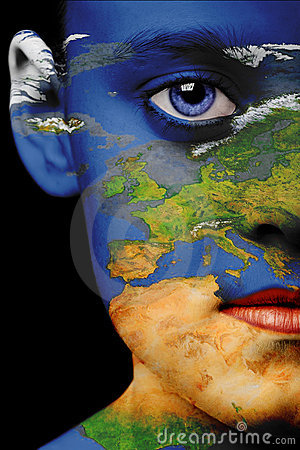 Free Face Paint - Europe Royalty Free Stock Photo - 2842695