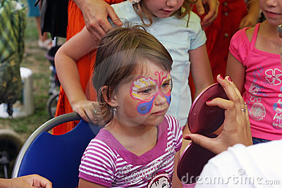 Face painting Editorial Photo
