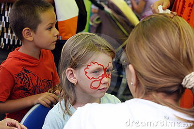 Face painting Editorial Image