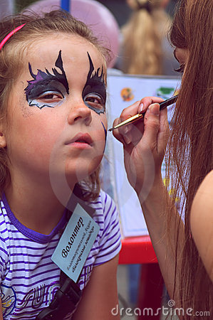 Face painting Editorial Photography