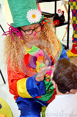 Face painting Editorial Stock Image