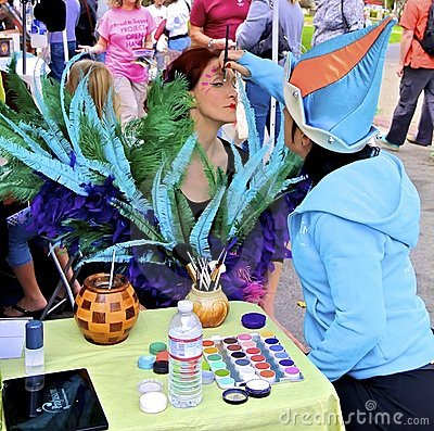 Face Painting by Cirque du Soleil Editorial Stock Image