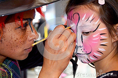 Face painting mega fun day Editorial Stock Photo