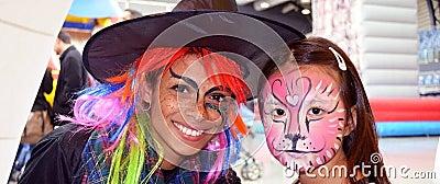 Face painting mega fun day Editorial Photo