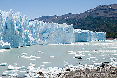 Face of Perito Merino glacier, Argentina