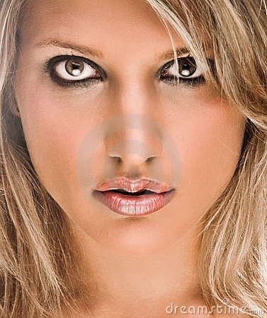 Face Portrait Of A Beautiful Blond Woman