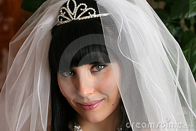 Face portrait of a bride