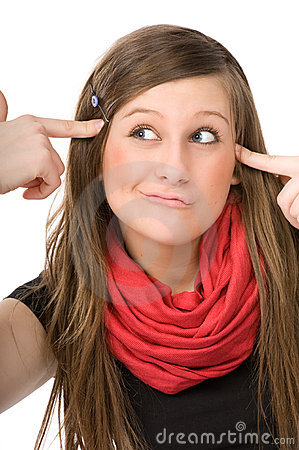 Free Face Portrait Of Crazy Girl Stock Photo - 18506830