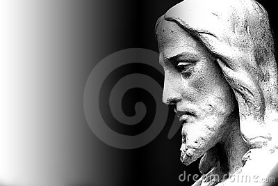 Face of a Religious Jesus statue
