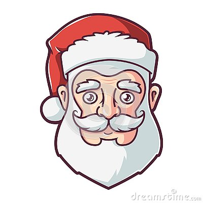 Face of santa claus Vector Illustration