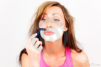 Face shave depilation woman