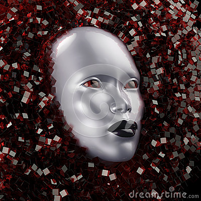 Free Face Surrounded By Crystal Stock Photo - 65363160