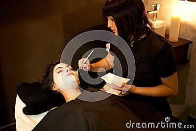 Face treatment. Spa.