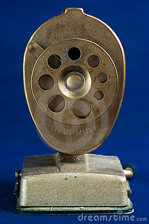 Face-On View of Antique Pencil Sharpener