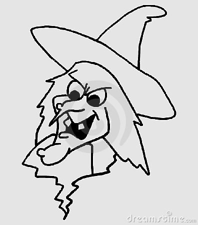 Face of a witch