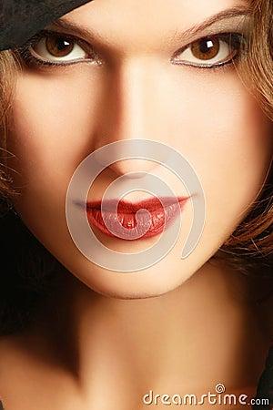 Face woman close-up
