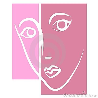 Face of Woman Female Clipart