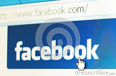 Facebook знамени Редакционное Стоковое Изображение