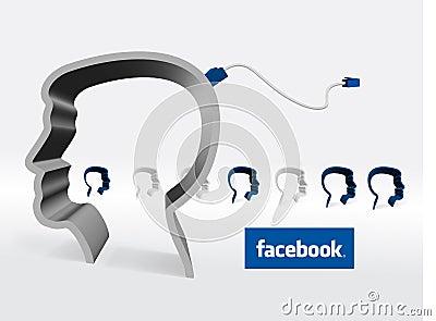 Facebook Editorial Stock Image