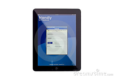 Facebook App on iPad Editorial Image