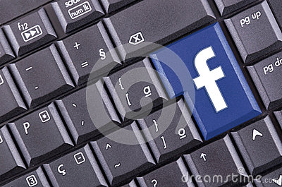 Facebook button Editorial Photo
