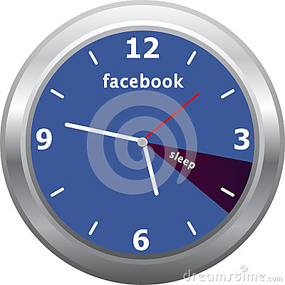 Facebook Clock Editorial Photo