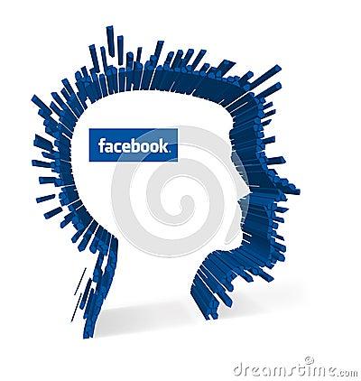 Facebook - Facial recognition Editorial Photography