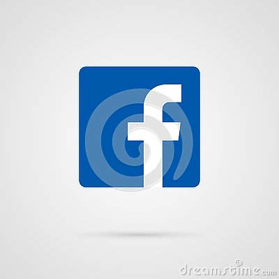 Facebook icon vector illustration.Facebook social media vector icon Vector Illustration