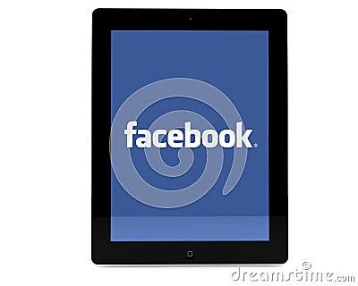 Facebook on iPad Editorial Image