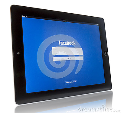 Facebook on iPad 3 Editorial Photography