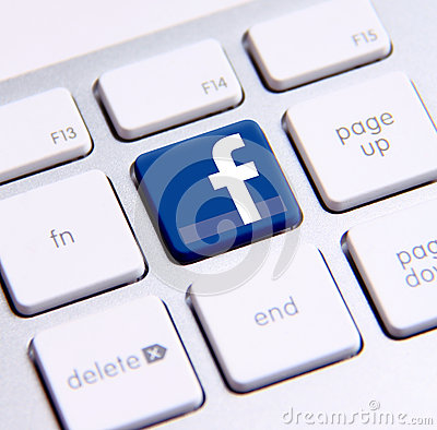 Facebook keyboard Editorial Image