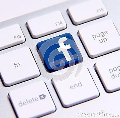 Facebook keyboard Editorial Image