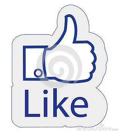 Facebook like Editorial Image