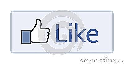 Facebook Like button 2014 Editorial Photography