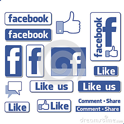 Free Facebook Like Button Icons Set Stock Photo - 29783900